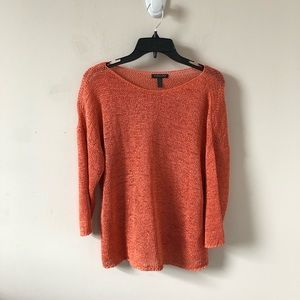 Eileen Fisher Orange Knit Textured Top- Size MP